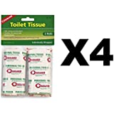 Coghlan 27s Coghlan's Toilet Tissue Biodegradeable Single Ply Strong Absorbant (4-Pack Of 2)