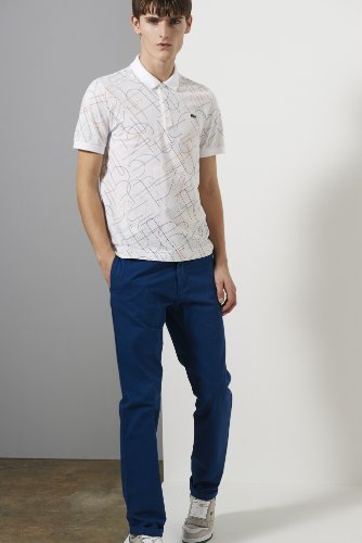 L!ve Short Sleeve Mini Pique Printed Polo Shirt