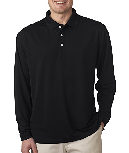 Ultraclub Adult Cool & Dry Long-Sleeve Stain-Release Performance Polo - Black (M) *** Product Description: 8445Ls Ultraclub Adult Cool & Dry Long-Sleeve Stain-Release Performance Polo : Black (M) Stay Cool, Dry And Comfortable With Ultraclub Cool ***  футболка snodalen snodalen long sleeve m синий