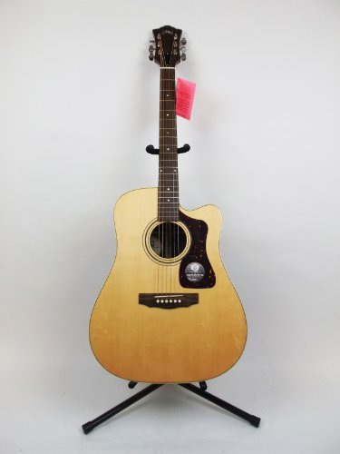 Guild D-50Ce Acoustic Electric Guitar With Hardshell Case (Natural)