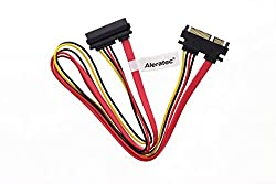 Aleratec 20 inch Slimline 22-Pin (7 + 15) SATA Male to Female Data and Power Extension Adapter Cable 6-Pack Combo
