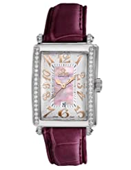 Gevril Women's 7248RE.14F Pink Mother-of-Pearl Genuine Alligator Strap Watch