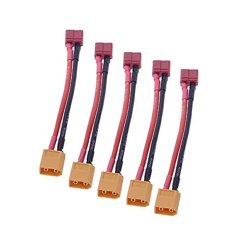 Andoer 5Pcs Anti-skid T Plug Female to XT60 Plug Female Adapter Converter for RC Lipo Battery - 1