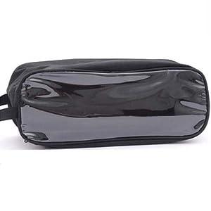 eFuture(TM) Black Visual Waterproof Zippered Shoe Storage Bag Storage Breathable Bag For Travel +eFuture's nice Keyring from eFuture
