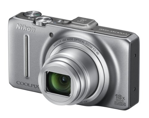 Nikon COOLPIX S9300 Compact Digital Camera - Silver (16MP, 18x Optical Zoom) 3 inch LCD