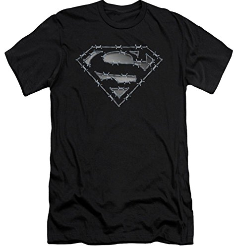 Superman: Barbed Wire Slim Fit T-Shirt SM843SF