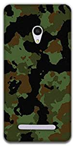 The Racoon Lean Military camouflage hard plastic printed back case / cover for Asus Zenfone 5