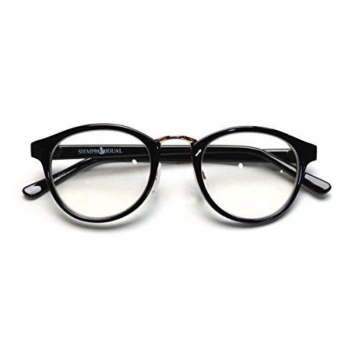 (トライバル)TRIBAL 細めのシンプルフレーム ボストンタイプ眼鏡 ブラック