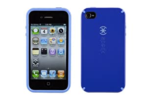 Speck Products CandyShell Rubberized Hard Case for iPhone 4 - AT&T - 1 Pack - Retail Packaging - IndiWhoa Blue