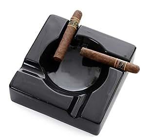 mantello cigars large black ceramic cigar ashtray for patio outdoor use automotive. Black Bedroom Furniture Sets. Home Design Ideas