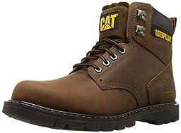 Caterpillar Men\'s Second Shift Work Boot,Dark Brown,5 M US