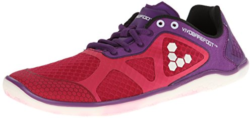 Vivobarefoot Women's One On Road Run Walk Shoe, Purple/Pink, 39 EU/8.5 M US