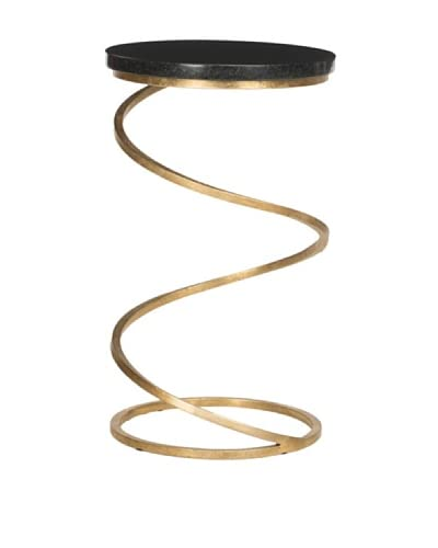 Safavieh Nevina Accent Table, Gold/Black Marble Top