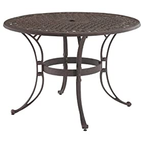Buy Home Style 5555 32 Biscayne Round Outdoor Dining Table Rust Bronze Finish 48 Inch Etskvccb