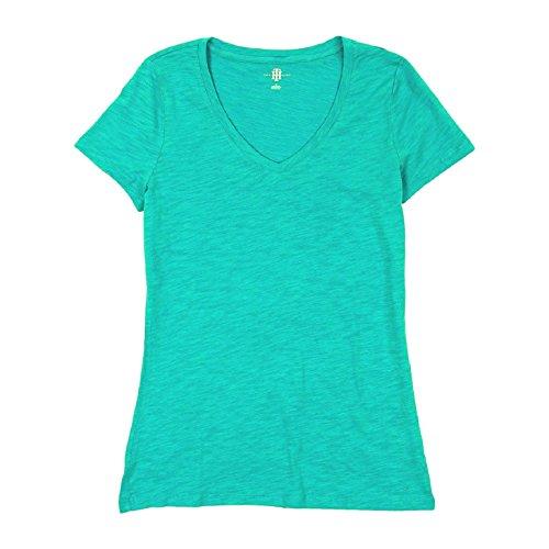 tommy-hilfiger-womens-slub-v-neck-t-shirt-small-scuba-blue