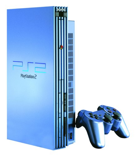 Sony Playstation 2 Console, Aqua (Blue) Limited Edition