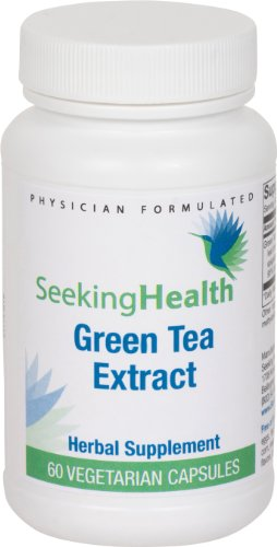 Green Tea Extract | Provides 750 Mg Of Pure Green Tea Extract | 60 Easy-To-Swallow Vegetarian Capsules | Free Of Common Allergens And Magnesium Stearate | Seeking Health