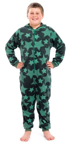 Kids-Childrens-Teen-Onesies-Full-Length-Fleece-Onesie-Hooded-All-In-One-Jumpsuit-Bathrobe-Girls-Boys-Age-3-13