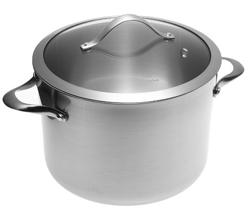 Calphalon Contemporary Stainless 8-Quart Stockpot with Glass Lid