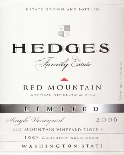 2006 Hedges Family Estate Single Vineyard Limited Cabernet Sauvignon 750 Ml