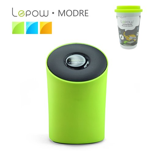 Lepow® Modre Portable Wireless Bluetooth Speaker - Ultra Portable, Powerful Sound, Stylish And Colorful With Built In Microphone (Green)