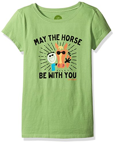 Life is good Girl's Elemental Mane Squeeze Tee, Fern Green, Medium (Life Is Good Kids compare prices)