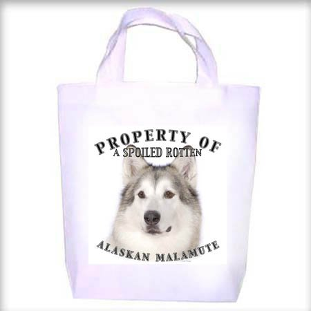 Alaskan Malamute Property Shopping - Dog Toy - Tote Bag