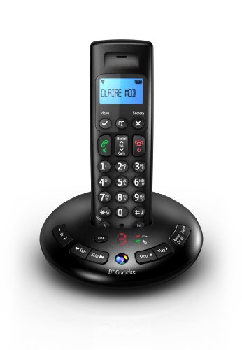 BT Graphite 2500 Single DECT Digital Cordless Phone with Answer Machine - Black