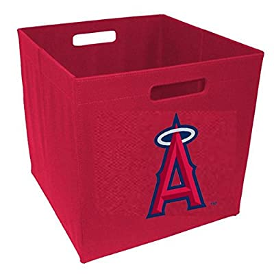 Baseline Sports Cards 12 in. Team Logo Storage Cube - Los Angeles Angels
