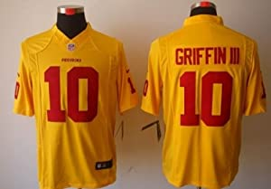 Robert Griffin III RG3 #10 Washington Redskins Yellow Jersey 48 Large by Field