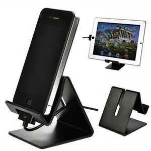 Sunvito Solid Aluminum Metal Desktop Stand for Mobile Phone Tablet PC (Black) …