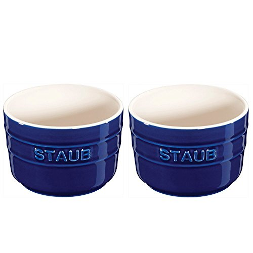 Staub Mini Round Ramekin, Set of 2, Dark Blue, 5 oz.