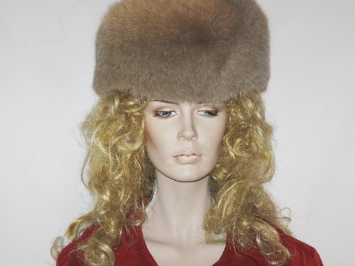 Scarves- Fox-Fur Headband From Cashmere Pashmina Group (Camel) front-999884