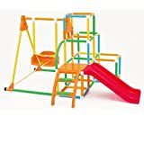 ブランコパーク DX 123 遊具 ぶらんこ ジャングルジム すべり台 アガツマ Agatsuma 遊具・のりもの 遊具 (カラフル)