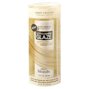 John Frieda Sheer Blonde Luminous Color Glaze, Platinum to Champagne, 6.5-Ounce Bottle