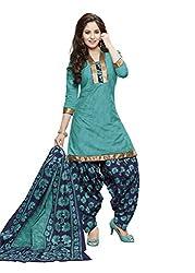 Gugaliya Women's ROYAL CLASS Premium CELEBERATION Series 100 % Cotton UNSTICHED Salwar, Kameez & Dupatta Suit (Baalar 407)
