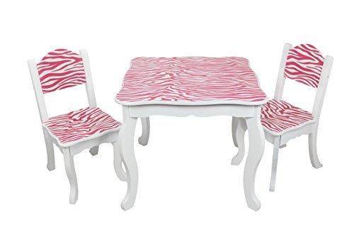Teamson Kids - Zebra Table And Chair Sets