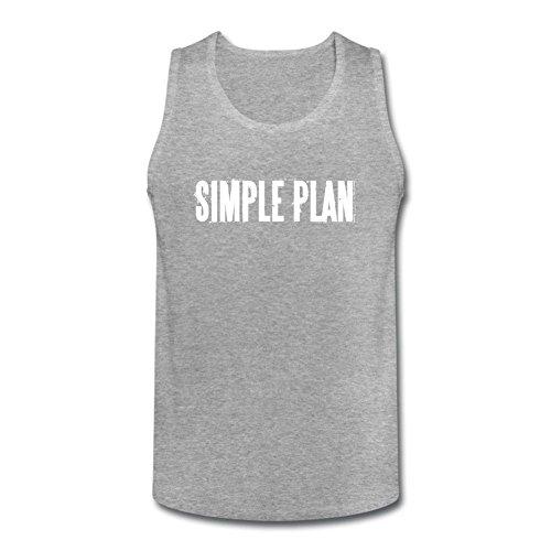 Newm Men's Simple Plan Logo O Neck Tank Top Shirt
