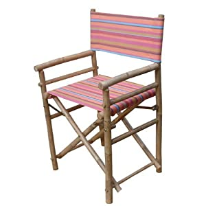 Bamboo 39 S R Us Director 39 S Chair Red Stripe Kitchen Am