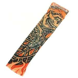 Amazon.com - Devil elástico falso tatuaje temporal la manga del brazo