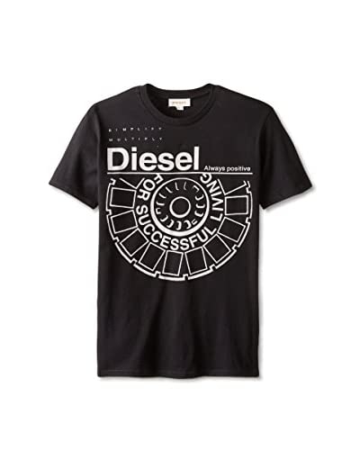 Diesel Men's Wheel Crew Neck T-Shirt