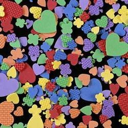 Craft Foam Hearts and Flowers Shapes