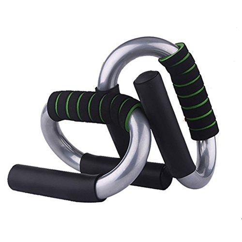 Lalawow Push Up Fitness Griffe Liegestützgriffe Liegestütze Griffe für Armtraining Brusttraining (Grün(Lackierte Antirutsch-Gummi))