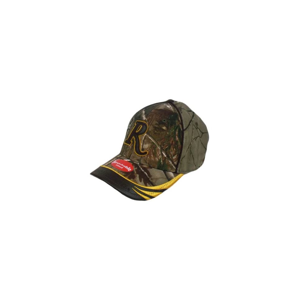 dae9163ce62 Remington Hat Cap Realtree Camo Camouflage Brown Leather Bill Flex Fit Adult
