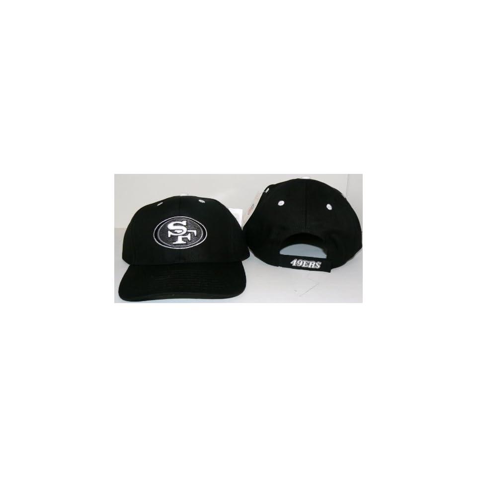 NFL San Francisco 49ers Black Embroidered Baseball Hat Cap Lid