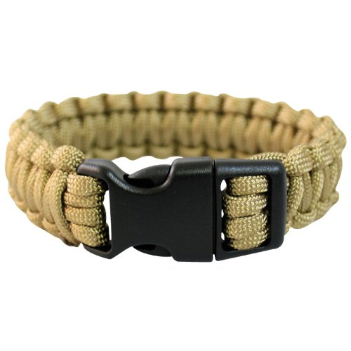 Mil-Tec Paracord Wrist Band 15Mm Coyote Size S