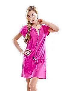 dn-nightwear - Señoras camisón suave y agradablemente-colores - 100% algodón