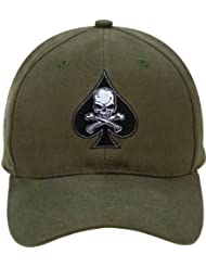 9884 Olive Drab Low Profile Death Spade Baseball Cap