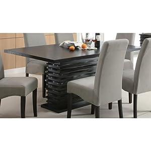 Amazon.com : Coaster Stanton Contemporary Dining Table in Black