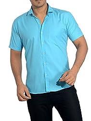 Baaamboos Casual Half Sleeve Rich Cotton Shirt HRC42/5 (40)